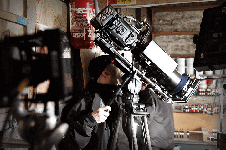 Gros plan du caméraman de Discovery Channel